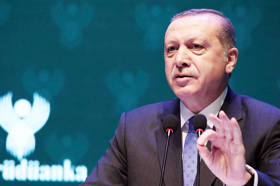"""Erdogan wirft Deutschland """"Nazi-Praktiken"""" vor."""