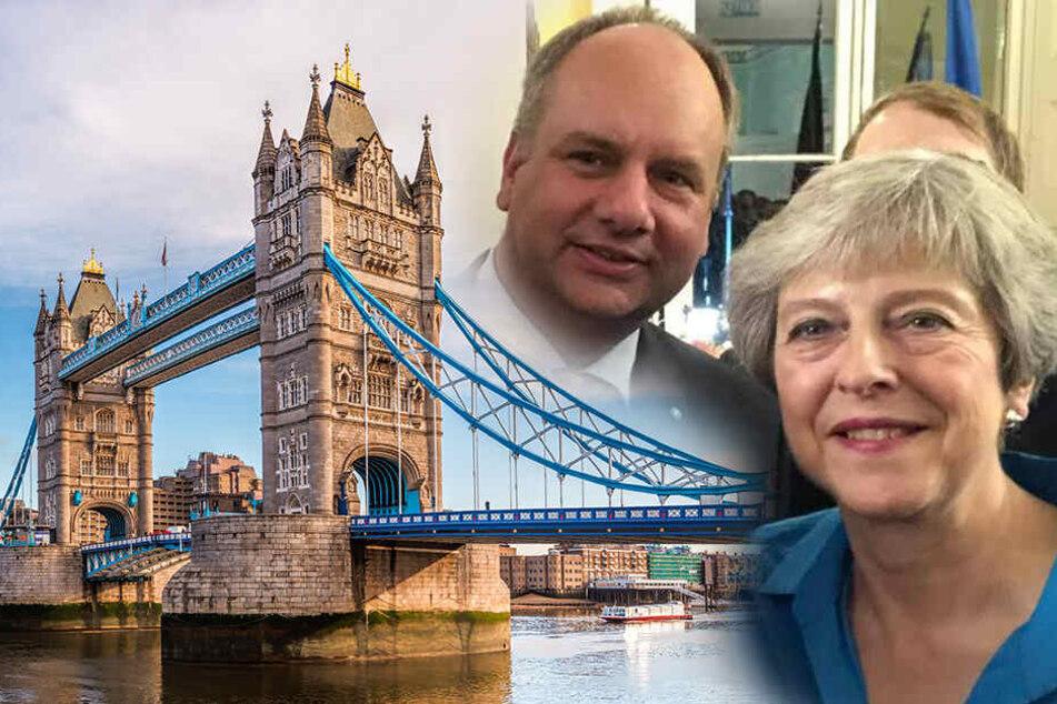 Was hat Theresa May mit OB Hilbert zu besprechen?