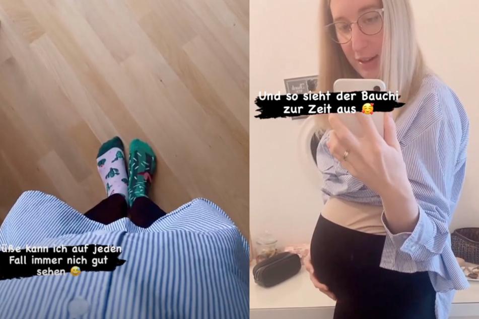 Auf Instagram zeigt Melissa ihren Babybauch.
