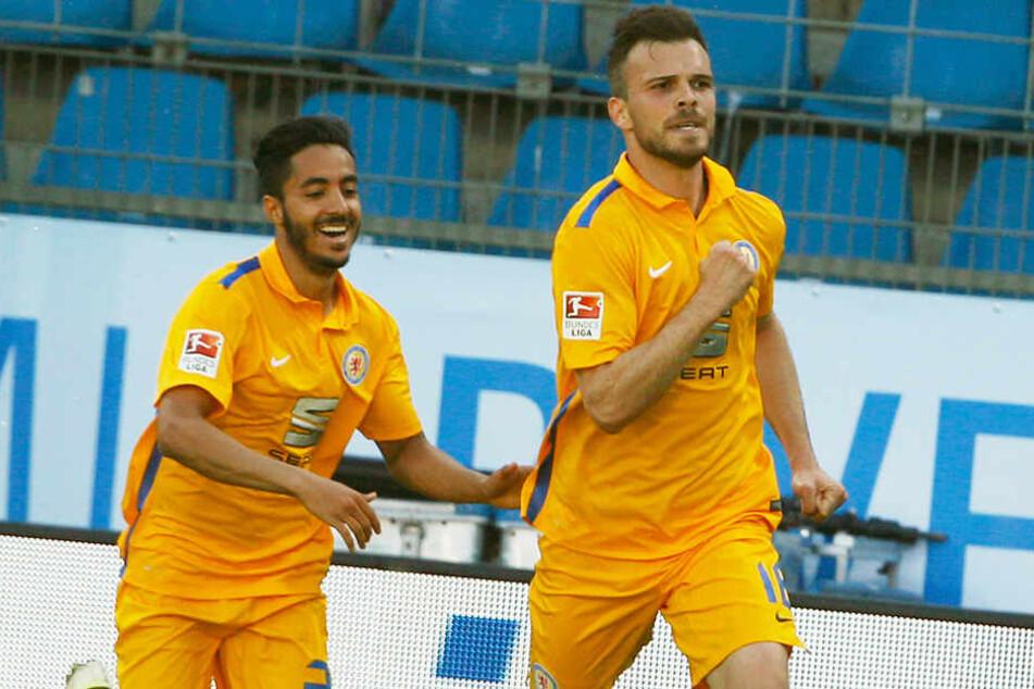 Orhan Ademi (r.) spielt zweiten Mal in seiner Karriere für Eintracht Braunschweig.