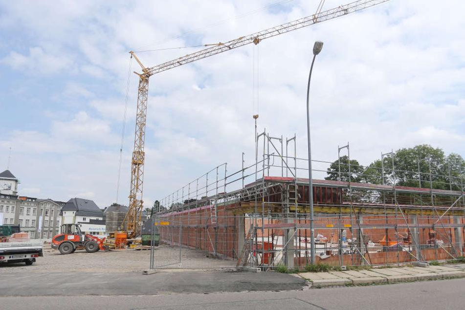 Neuer Einkaufstempel: Norma baut derzeit in Limbach-Oberfrohna eine 800 Quadratmeter umfassende neue Kaufhalle.