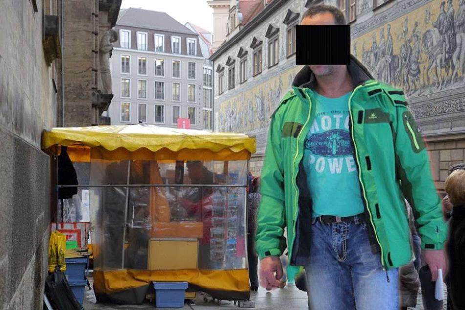 Das Geschäft mit gefälschten Fanartikeln hat ihm nichts gebracht, außer einer Geldstrafe! Souvenirhändler Rene L. (47)..