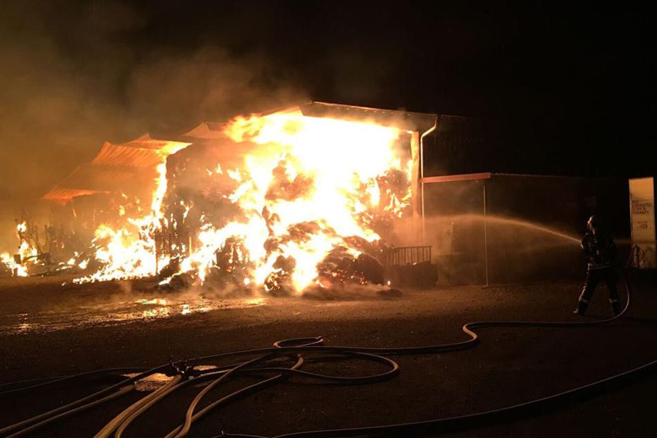 Die Feuerwehrmänner kämpften verbissen, um ein Übergreifen der Flammen zu verhindern.