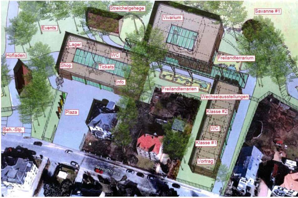So soll, nach dem neuen Masterplan, einmal der neue Eingang zum Tierpark aussehen.