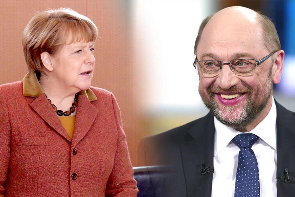 Angela Merkel (62, CDU) und Martin Schulz (61, SPD).