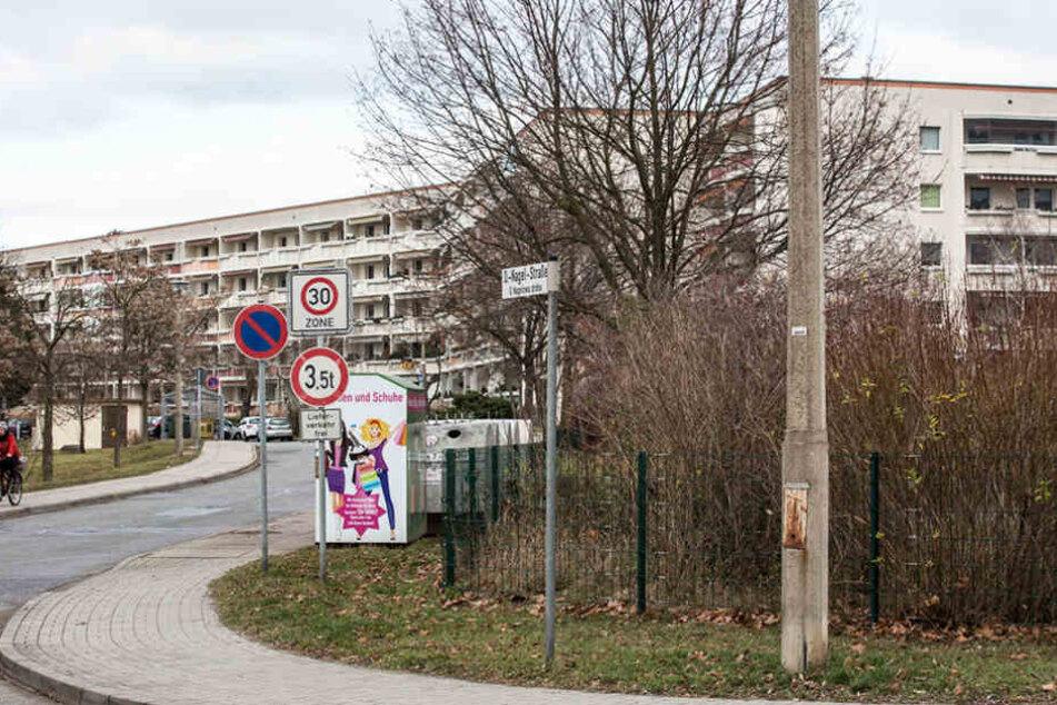 Hier auf der Otto-Nagel-Straße beschädigten die mutmaßlichen Täter einen Passat mit Böllern.