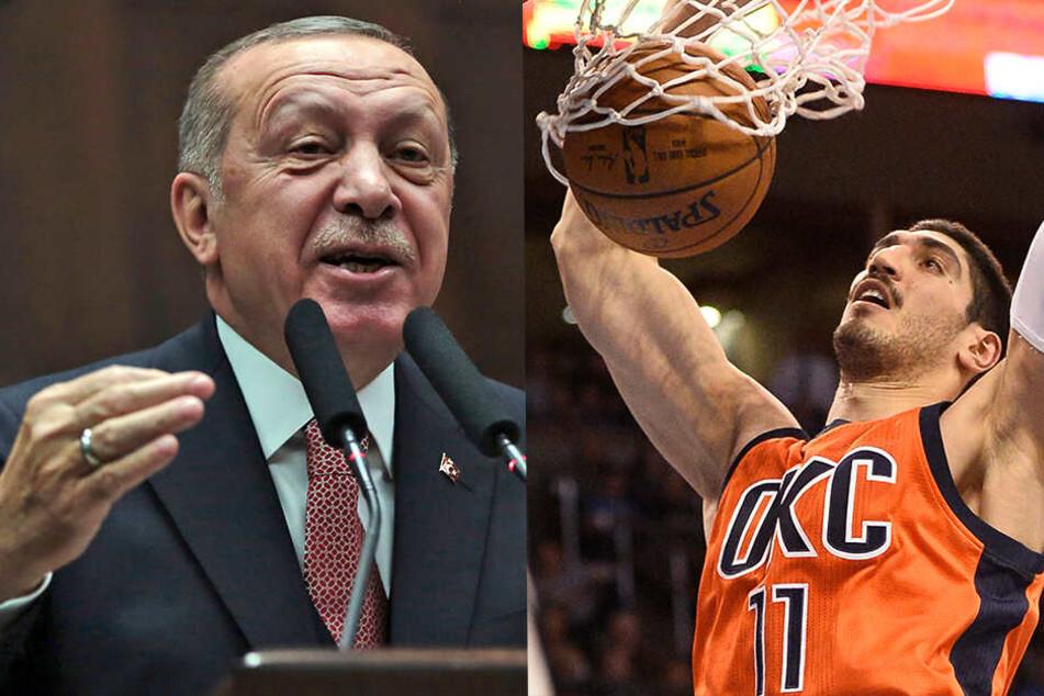 Basketball-Profi Enes Kanter reist nicht mit seiner Mannschaft nach London, weil er Todesangst vor Recep Tayyip Erdogan hat.