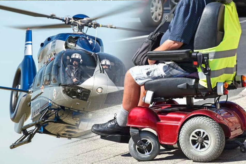 Rollstuhlfahrer stürzt bei Spazierfahrt und muss mit Hubschrauber gesucht werden