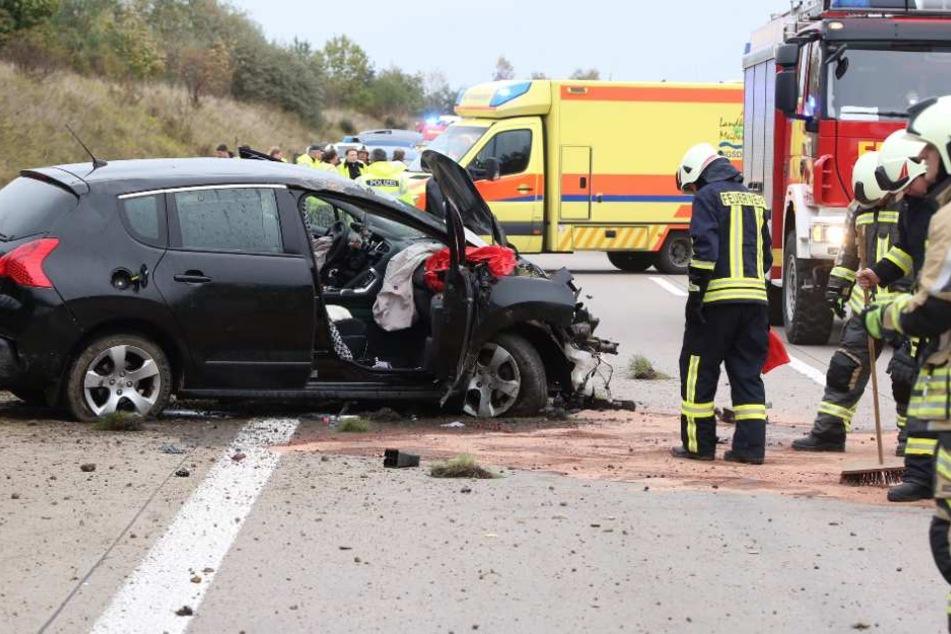 Der Peugeot-Fahrer hatte auf dem Weg nach Chemnitz die Kontrolle über sein Auto verloren.