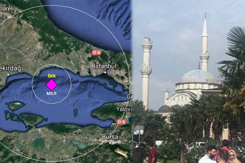 Wo liegt das marmarameer
