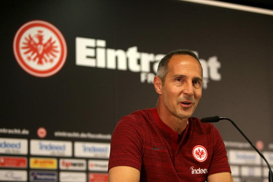 Die Partie gegen Bayern ist das erste Pflichtspiel für Adi Hütter als Eintracht-Trainer.