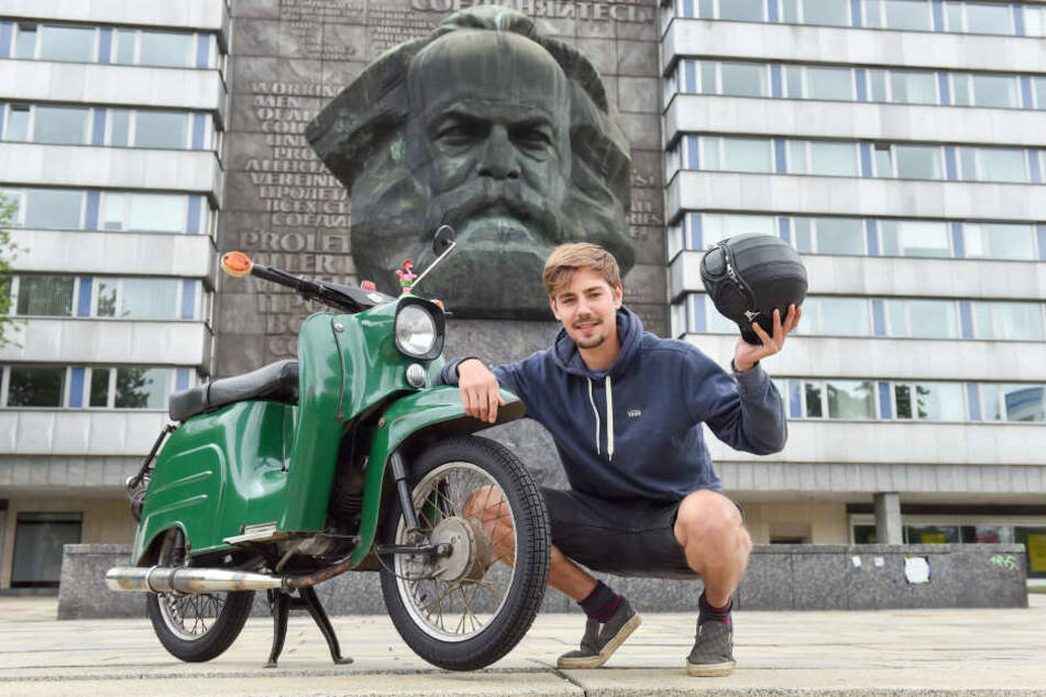 Johannes Richter (26) wagt sich mit seiner Schwalbe rund 700 Kilometer bis nach Ungarn.