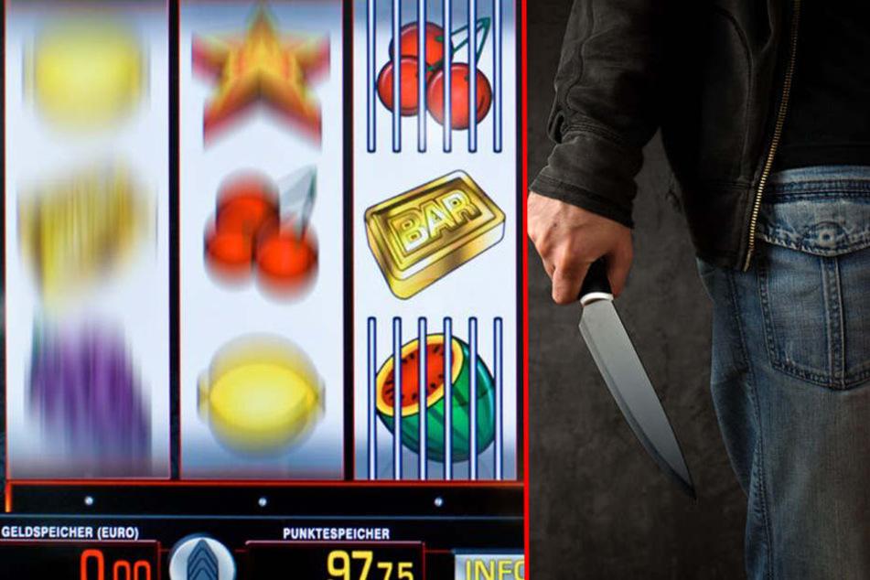 Mit einem Küchenmesser bewaffnet überfiel ein Unbekannter eine Spielhalle in Versmold.