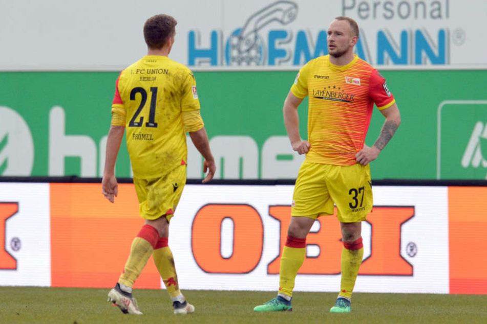 Ratlosigkeit bei Grischa Prömel und Toni Leistner nach der Niederlage bei Greuter Fürth.