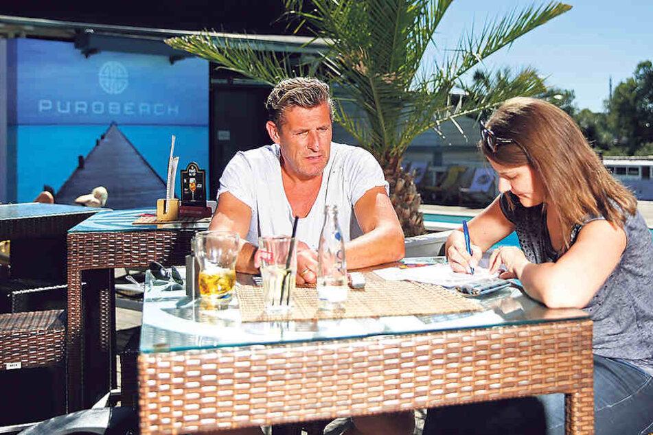 Christian von Canal (48) im Gespräch mit MOPO-Redateurin Antje Ulrich.
