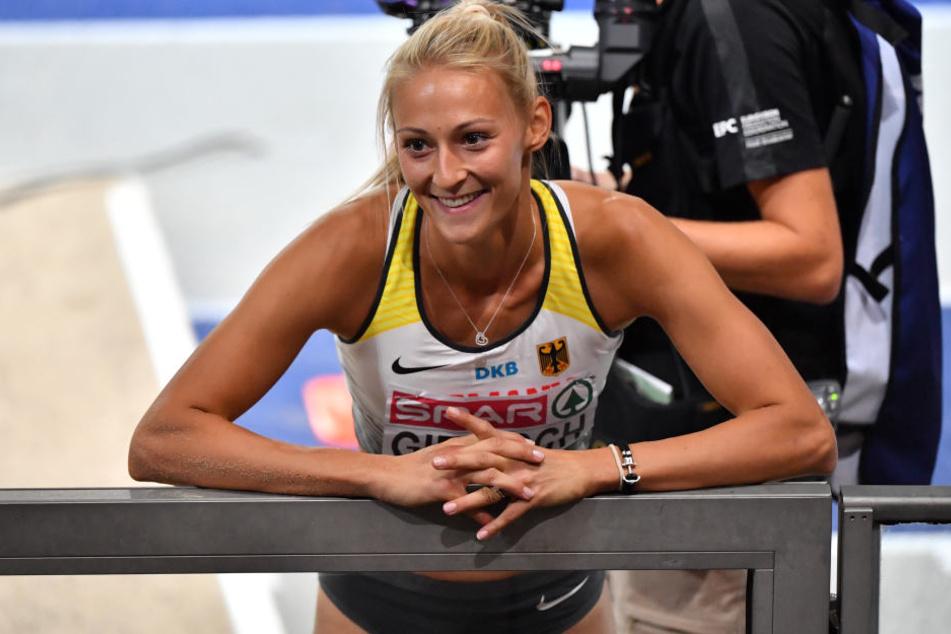 Überglücklich: Die Chemnitzerin gewann die Silbermedaille.