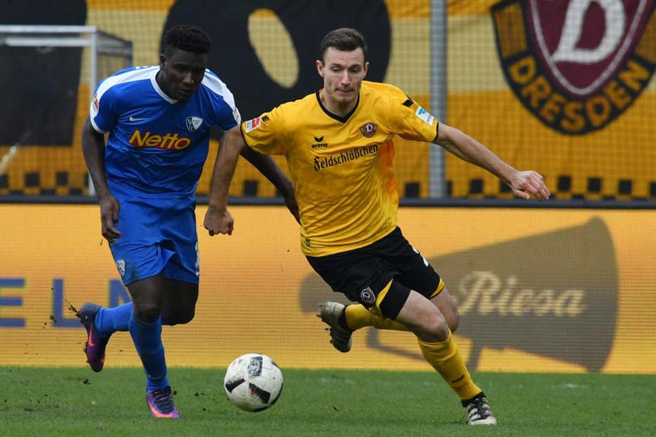Im Hinspiel trennten sich Dynamo und Bochum 2:2-Unentschieden.