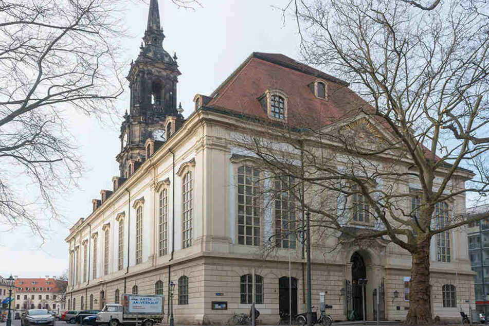 Die Dreikönigskirche in der Dresdner Neustadt.