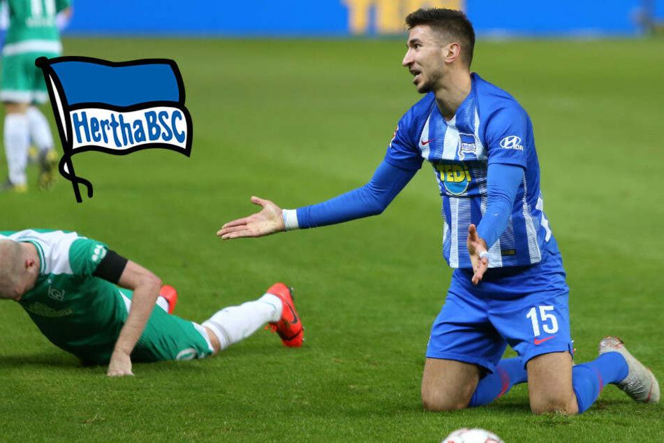 Grujic fällt aus: Hertha hat keine Sechser mehr