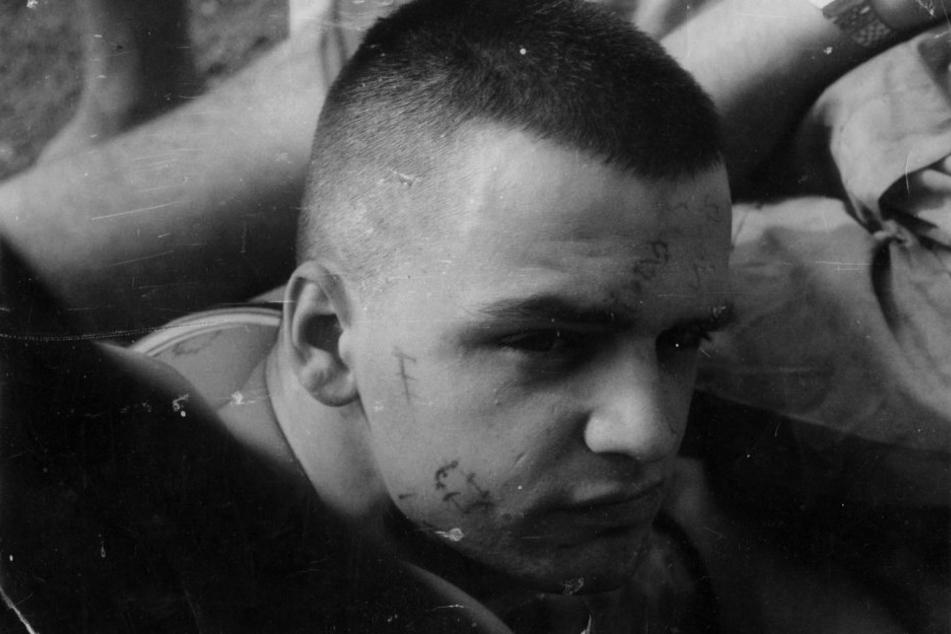 """Da war an """"Rummelsnuff"""" noch nicht zu denken: 1986 - Roger als 20-Jähriger in  der DDR, auf Krawall gebürstet."""