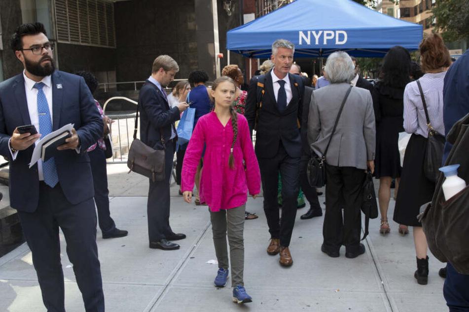 Greta Thunberg in New York.