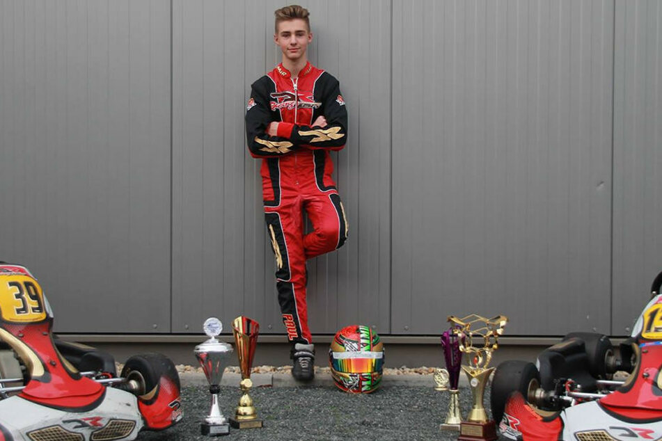 """Teamprofi Maximilian Paul (18) ist so erfolgreich unterwegs, dass er nur selten mit seinem """"Vollbier""""-Team trainieren kann."""
