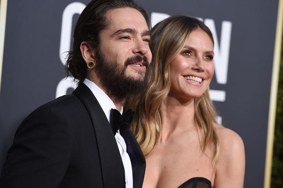 Heidi Klum und Tom Kaulitz strahlen bei den Golden Globes 2019 um die Wette.