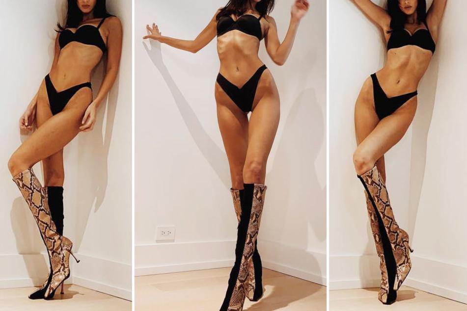 Welches Topmodel zeigt uns hier seine endlos langen Beine?