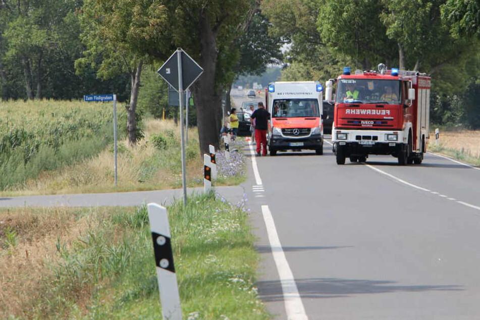 Erneut Unfall auf der B87: Mann (44) überschlägt sich mit Quad