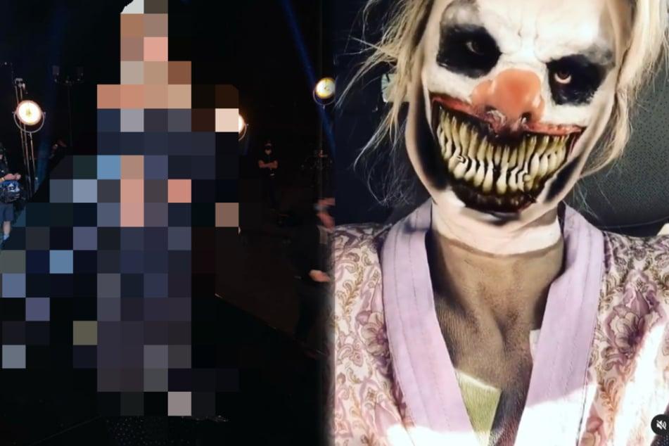 Sie hat es schon wieder getan! Welcher Promi verbirgt sich hinter dieser Grusel-Maske?