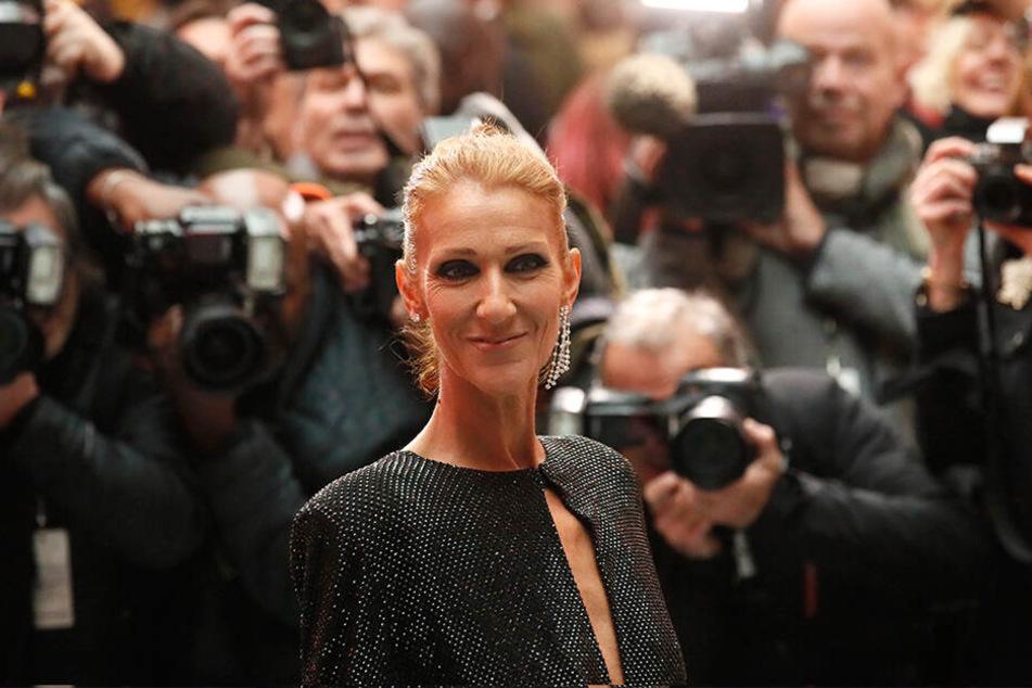 Celine Dion am 22. Januar bei der Präsentation der Frühjahr/Sommer 2019 Haute Couture Modekollektion des Modelabels Vauthier.