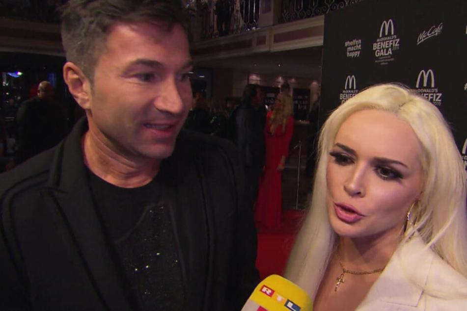 Er so, sie so: Im RTL-Interview gingen die Meinungen deutlich auseinander. (Screenshot)
