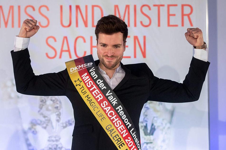 Tobias Ritter (28) ist seit dem gestrigen Sonntag Mister Sachsen, kommt aus Leipzig und ist Industriekaufmann.