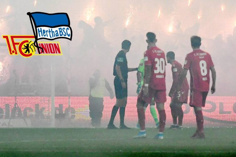 Nach Pyro-Eklat bei Berlin-Derby: Drohen Hertha und Union nun Geisterspiele?