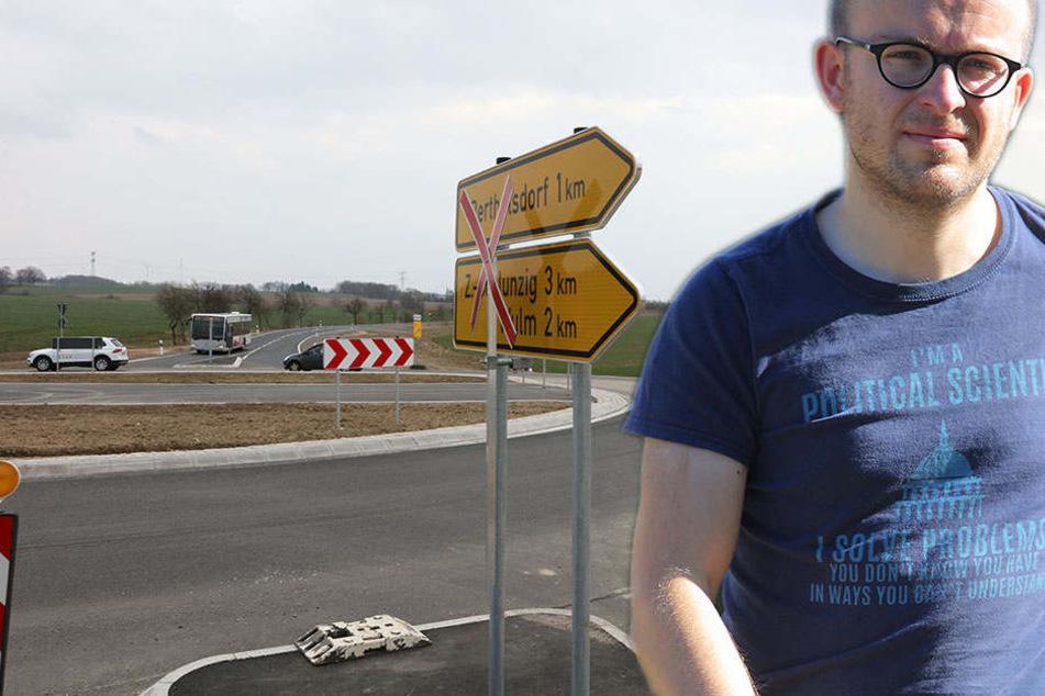 Warum wurde in Crossen einfach der Radweg vergessen?