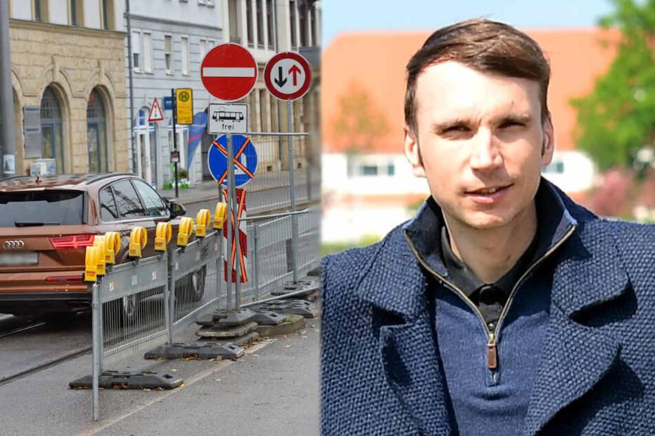 Dresden: Abzockfalle in der Friedrichstadt: Hier kassiert die Polizei ab