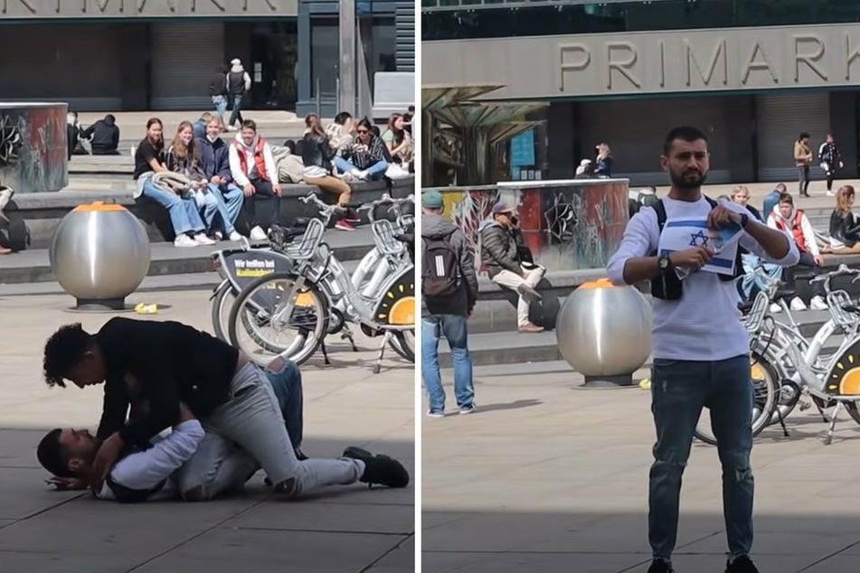 Berlin: Syrischer YouTuber Fayez Kanfash provoziert Israel-Hass am Alexanderplatz