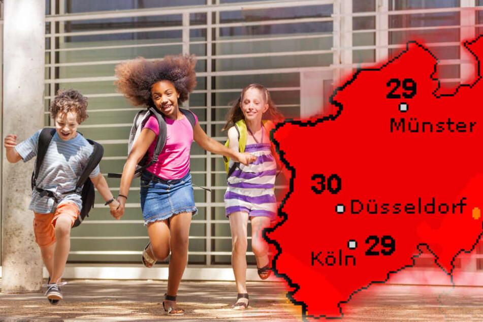 In Nordrhein-Westfalen kehrt am Wochenende der Hochsommer zurück. (Symbolbild)
