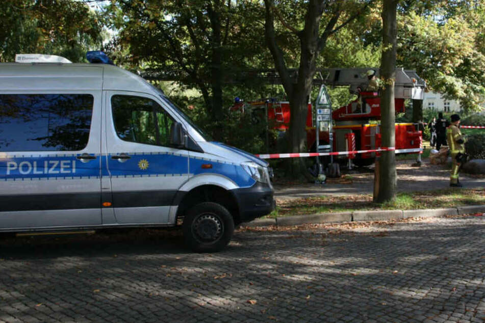 Feuerwehr und Polizei ist vor Ort.