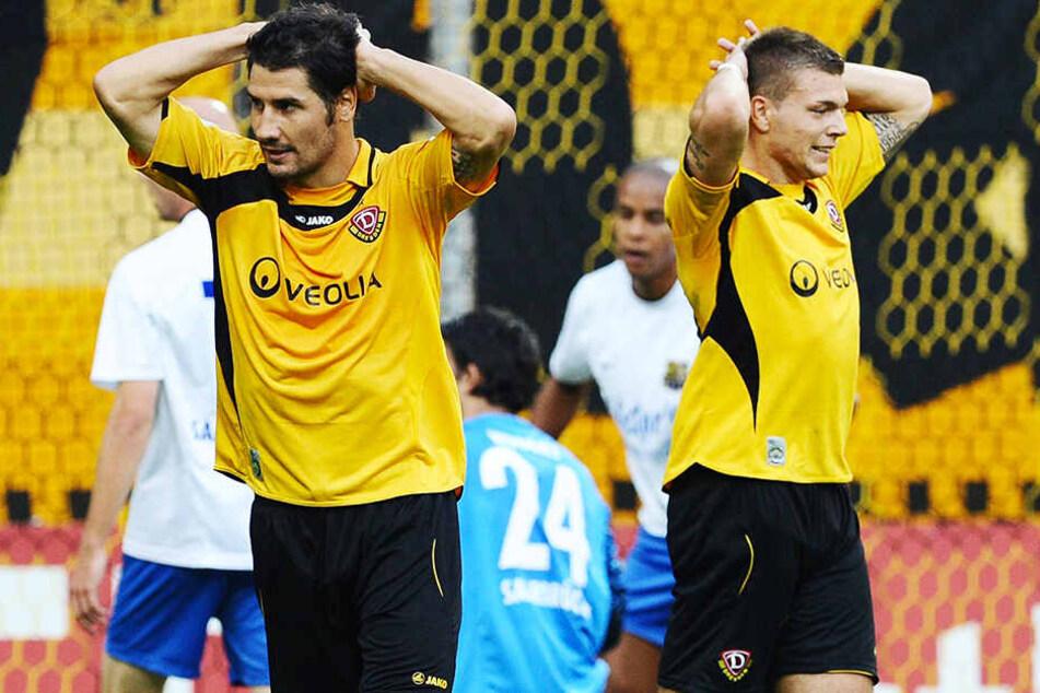 Der heutige Dynamo-Trainer Cristian Fiel und Alexander Esswein spielten in der Saison 2010/11 gemeinsam für Dresden.