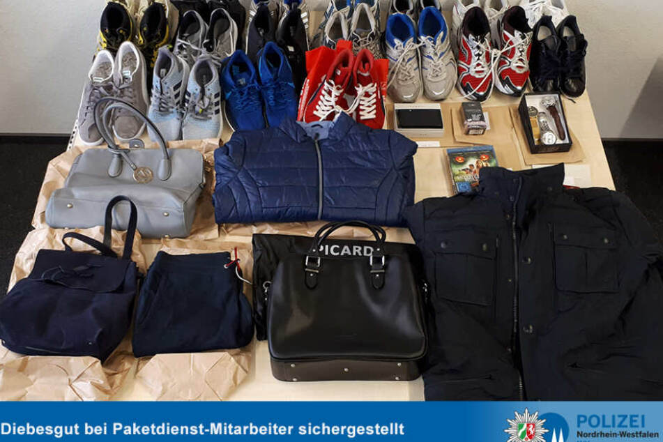 Mode, Designer-Taschen und Sneaker waren Teil der Beute.