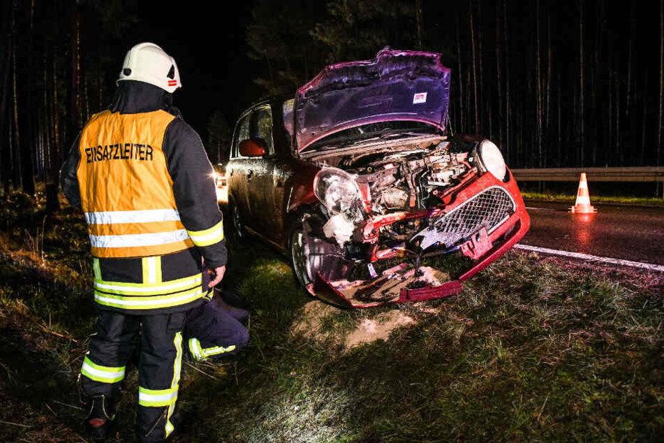 Die Fahrerin wurde bei dem Aufprall nicht verletzt.