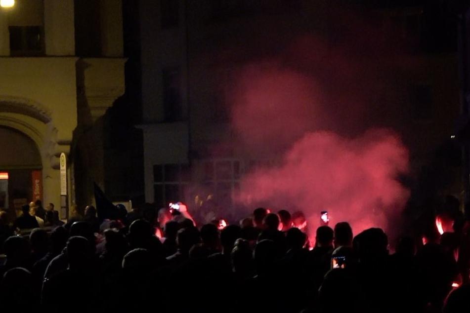 Am Sonntagabend kam es zu Demonstrationen in Köthen.