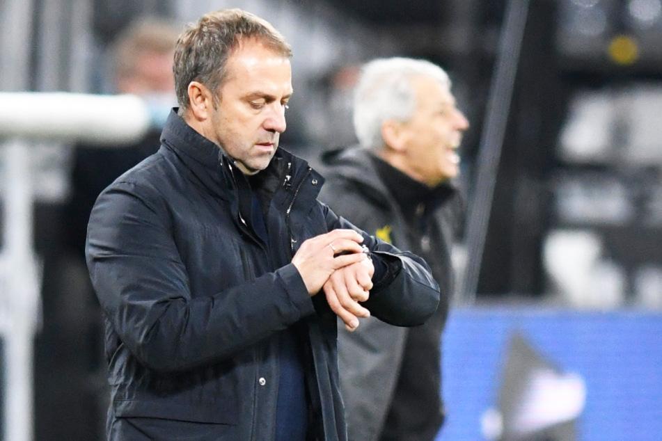 FCB-Coach Hani Flick (vorne) und BVB-Trainer Lucien Favre hatten beide ein gutes Spitzenspiel gesehen.