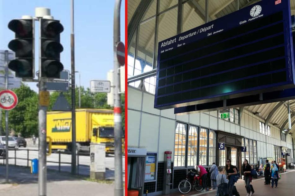 In Lübeck fielen Ampeln und Anzeigetafeln aus.