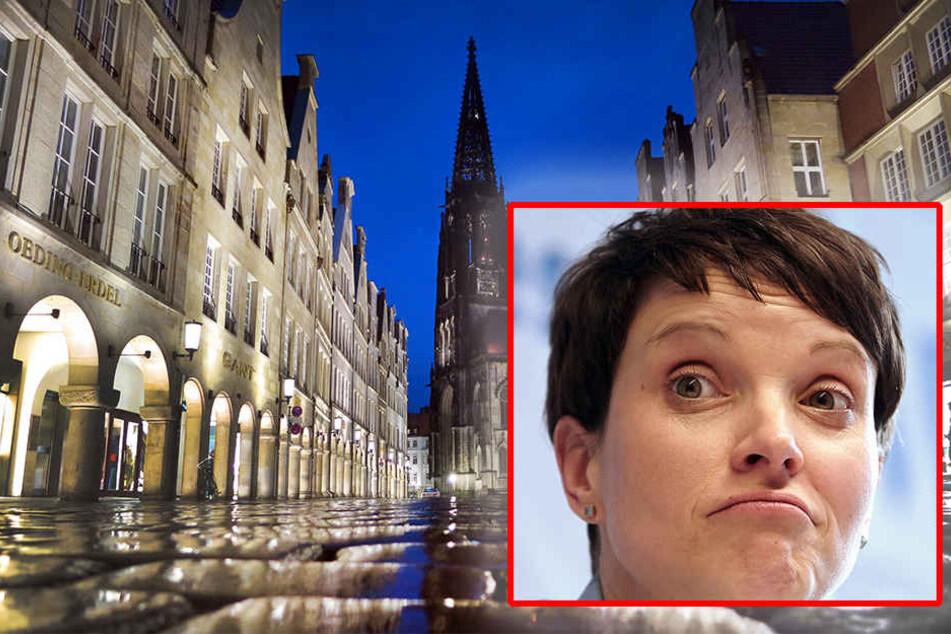 Münsters Kaufleute präsentieren sich als Einheit gegen die AfD und Frauke Petry (41). (Symbolbild)