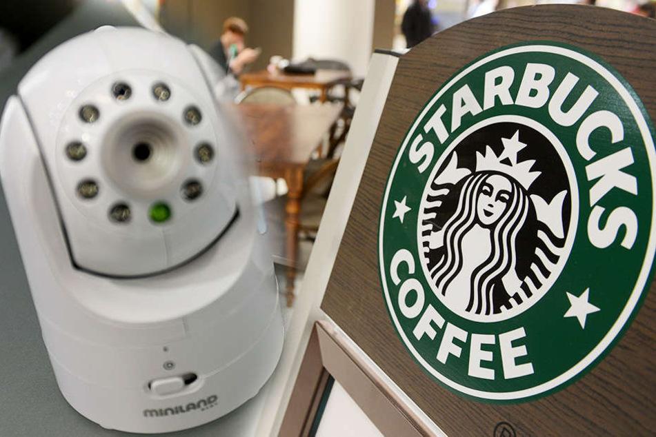 In der Starbucks-Filiale in Atlanta entdeckte eine Kundin die versteckte Kamera auf der Toilette.