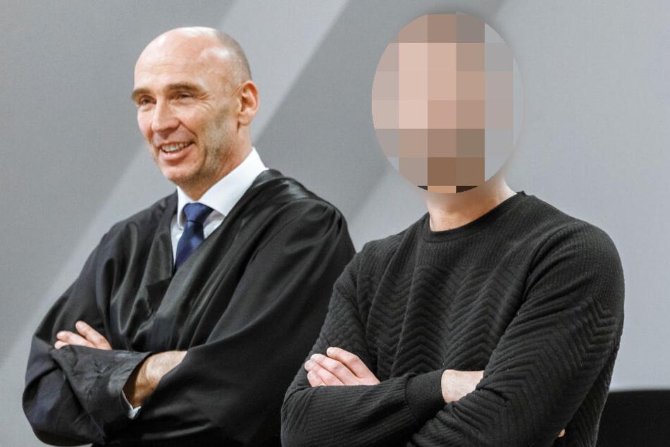 Anwalt Christian Schumacher (links) hat den Verurteilten im Prozess verteidigt.