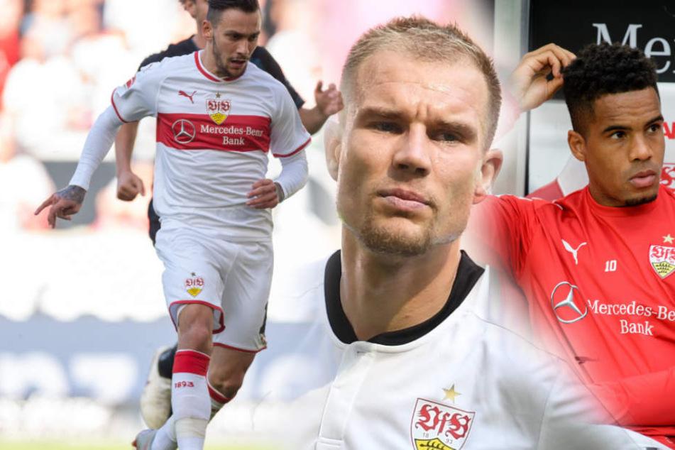 Die verletzten Problemkinder des VfB Stuttgart: Anastasios Donis (l.), Holger Badstuber und Daniel Didavi (r.). (Fotomontage)