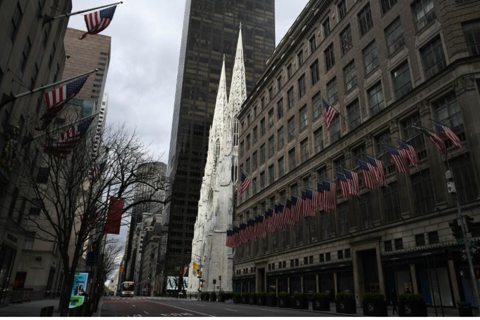 Menschenleere Straße in New York (Symbolbild).